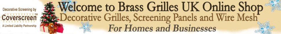 Welcome to Brass Grilles UK Online Shop